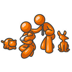Orange Man Family