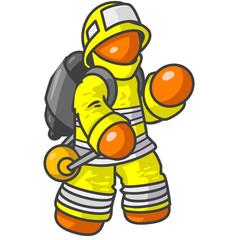 Orange Fire Man