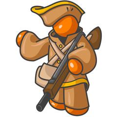 Orange Man Colonial Hunter