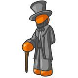 Orange Man President Lincoln poster