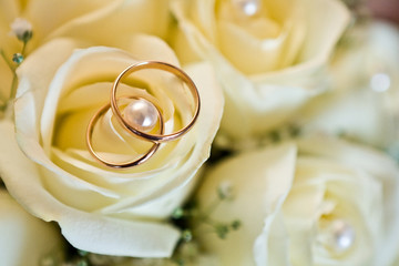 Wedding rings (close-up)