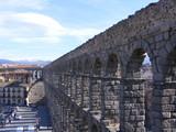 Vista superior del acueducto de Segovia poster