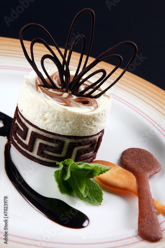 Dessert with chocolate