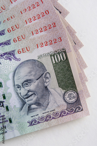 Indian hundred rupee  notes