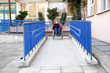 Using wheelchair ramp