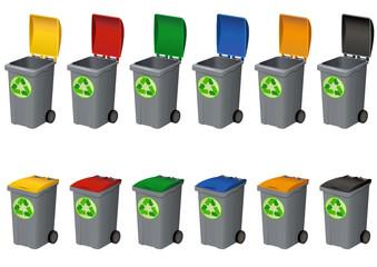 Poubelles du recyclage
