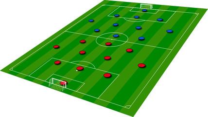 Campo di calcio - Formazioni