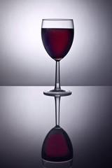 Backlit glass of wine