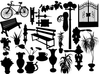 Silhouettes of diferrent objects