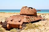 Soviet battle tank T-34 poster