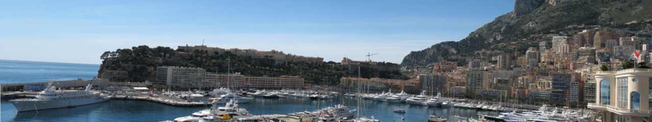 Monaco : Panorama du port
