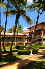Hotel at tropical resort