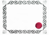 gothic blank certificate poster