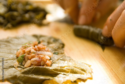 Stuffed grape leaf