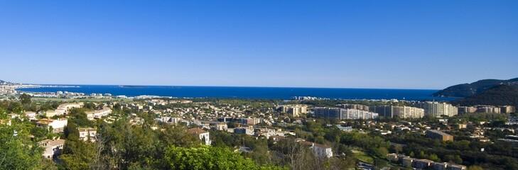 panorama cannes/mandelieu/theoule (10km de cote)