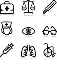 Black contour web icons, set 13