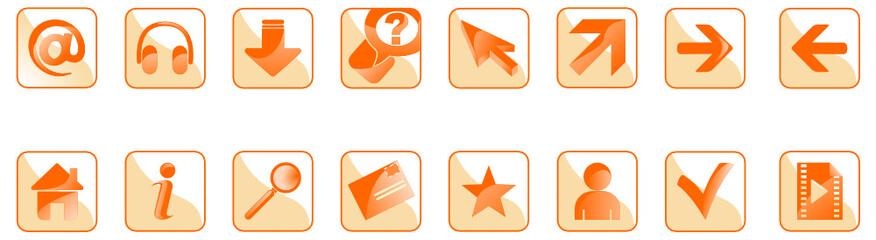icone web arancio