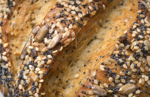 Bread closeup with seeds