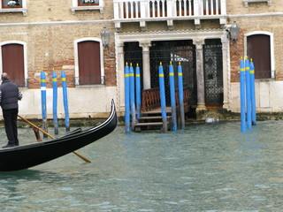 Gondole  sur le canal, Venise, Italie