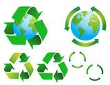 vector environmental conservation symbols poster