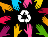 Global effort to recycle poster