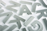 Stainless steel letters poster