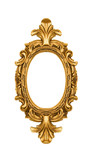Vintage oval gold ornate picture frame poster