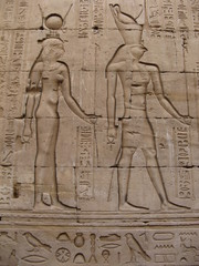 Egyptian Art - Horus & Hathor, Karnak Temple, Luxor