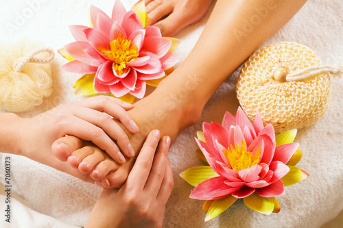 canvas print picture Fussmassage