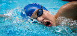 nager natation jeux olympiques visage athlète bonnet respirer