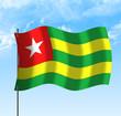 Drapeau du Togo , ciel et vent