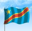 Drapeau du Congo, république démocratique du, ciel et vent