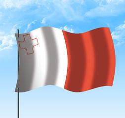 Drapeau de Malte , ciel et vent