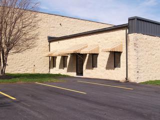 exterior of a modern block building