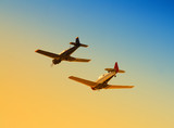 Military planes passing overhead poster