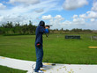 canvas print picture - Man Trap Shooting