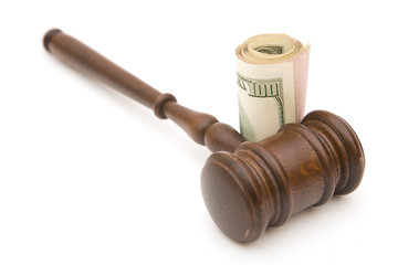 gavel and money