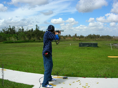 Fotobehang Jacht Man Trap Shooting