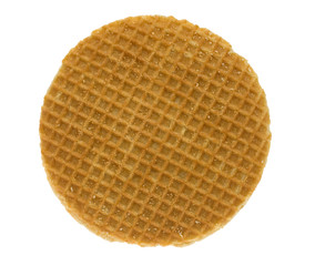 isolated stroopwafel