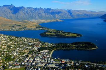 Queenstown and Lake Wakatipu, New Zealand