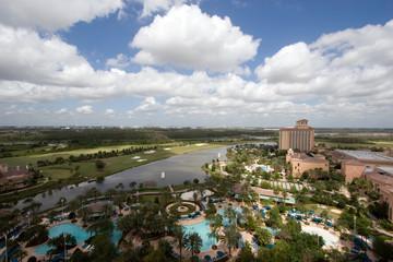 Wide angle view of Orlando resort