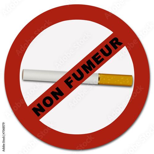 Panneau Non fumeur cigarette