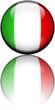 Drapeau Italie 3D Reflet