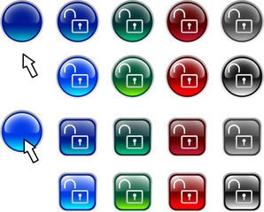 Padlock buttons.