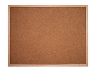 cork board or bulletin board