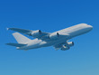 Airbus A380 with clipping path