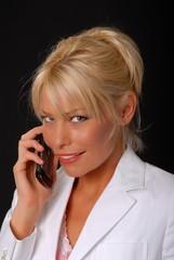 Lovely Blond Girl on telephone