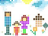 pixel family poster