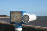 beach telescope poster