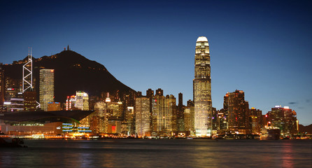 Hong Kong Skyline (View from Tsim Sha Tsui / Kowloon)